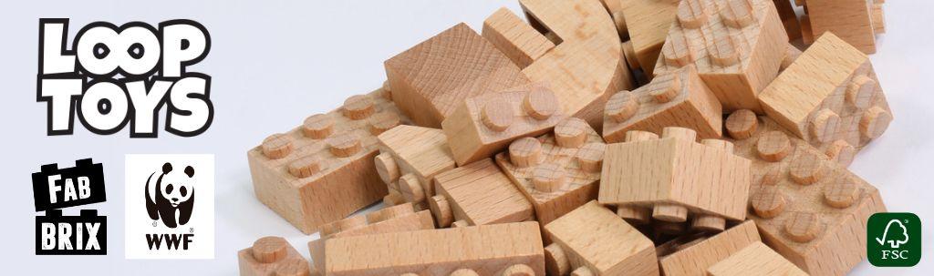 juguetes de construcción de madera LOOP TOYS